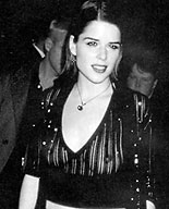hollywood celeb neve campbell nipples visible through sheer top